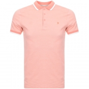 Product Image for Farah Vintage Basel Polo T Shirt Orange